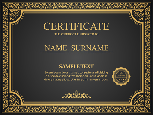 Certificates ornate design vector template 05 free download certificates ornate design vector template 05 maxwellsz