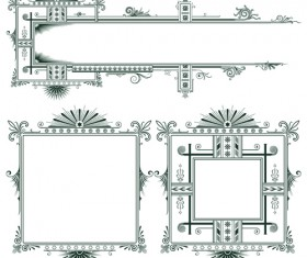 Classical Europe styles frame with borders vectors 01