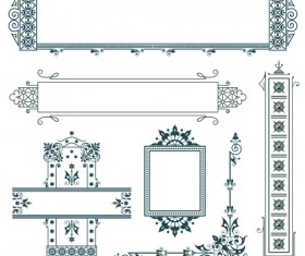 Classical Europe styles frame with borders vectors 03