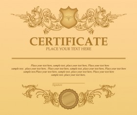 Certificate template vector for free download classical styles certificate template vectors 02 yelopaper Images