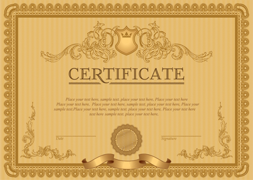 Certificate template vector for free download classical styles certificate template vectors 06 yelopaper Gallery