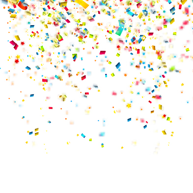 colorful confetti holiday background vector 02