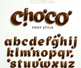 Creative choco alphabets vectors