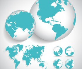 Earth and world map vector design 03