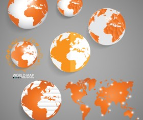 Earth and world map vector design 05