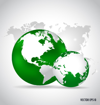 Earth and world map vector design 07