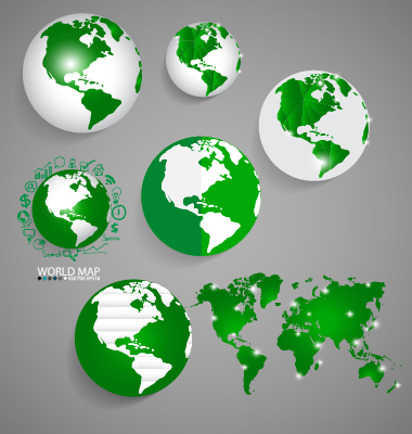 Earth and world map vector design 08