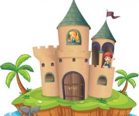Fantasy fairy tale world cartoon vector 05