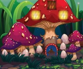 Fantasy fairy tale world cartoon vector 11