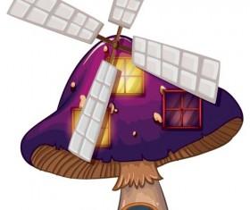 Fantasy fairy tale world cartoon vector 14