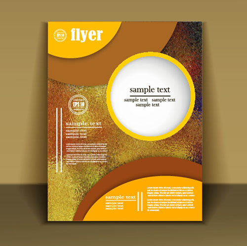 Fashion cover brochure with flyer design vector 06 - Vector Cover ...