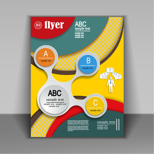 Fashion cover brochure with flyer design vector 07 - Vector Cover ...