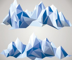 Geometric shapes Iceberg vector material