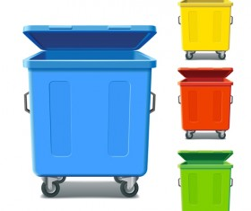 Glossy colored trash vectors 01