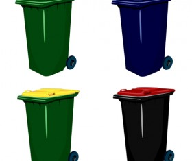 Glossy colored trash vectors 02