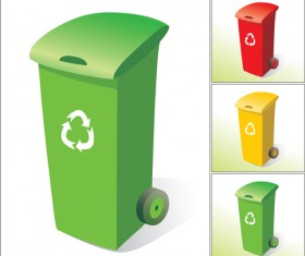 Glossy colored trash vectors 03