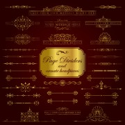 Golden borders luxury psd material