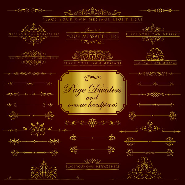 Golden borders luxury psd material over millions vectors stock photos hd pictures psd for Border psd
