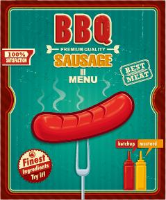 Grunge vintage styles food poster vector 03