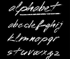 Hand drawn alphabet creative vectors 02