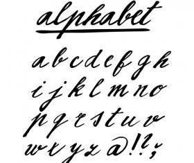 Hand drawn alphabet creative vectors 03