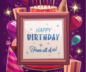 Happy birthday creative background vector 02