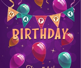 Happy birthday creative background vector 04