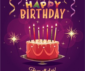 Happy birthday creative background vector 05