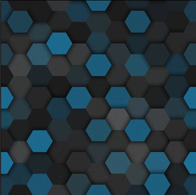 Hexagon layered seamless pattern vector material 05