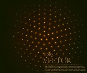 Light dot tech background vector 01