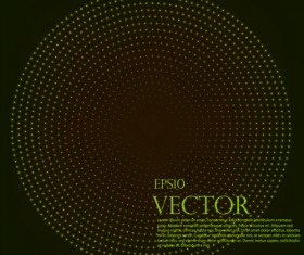 Light dot tech background vector 02