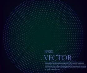 Light dot tech background vector 04