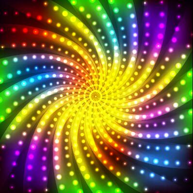 Multicolor Neon Effect Beautiful Background 02 Vector