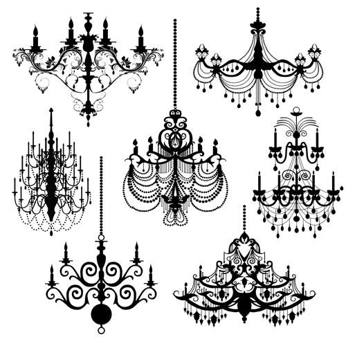 Ornate chandelier vector silhouette set 16 vector silhouettes free ornate chandelier vector silhouette set 16 aloadofball Choice Image