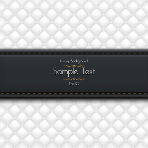 Ornate pattern leather background vector 03
