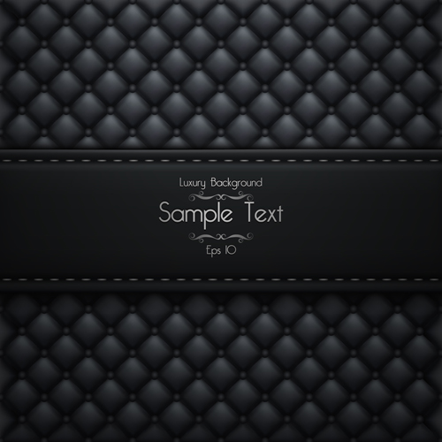 Ornate pattern leather background vector 04