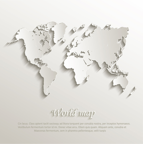 Paper world map creative design vector free download paper world map creative design vector gumiabroncs Choice Image