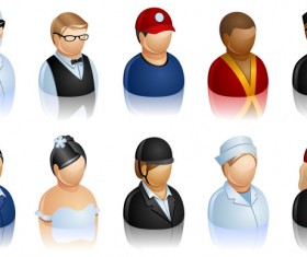 People of different occupations vector material