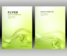 Refreshing flyer cover abstract vectors 01
