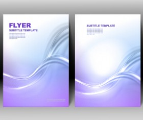 Refreshing flyer cover abstract vectors 02