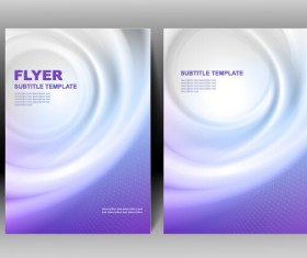 Refreshing flyer cover abstract vectors 03