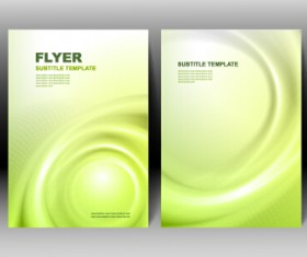 Refreshing flyer cover abstract vectors 04