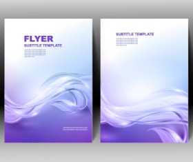 Refreshing flyer cover abstract vectors 05