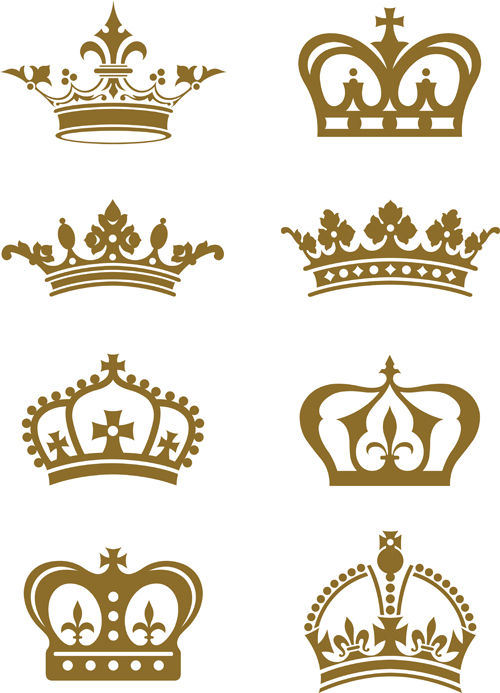 Royal crown vintage design vectors 08 - Vector Other free ...