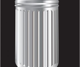 Silver trash vector material