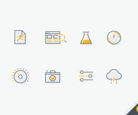Small fine teaching and weather vector