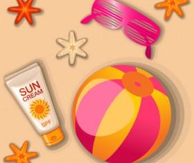 Summer cream protect lotion design vector 06