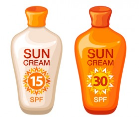 Summer cream protect lotion design vector 09