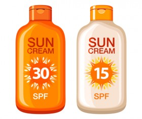 Summer cream protect lotion design vector 11