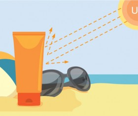Summer cream protect lotion design vector 14